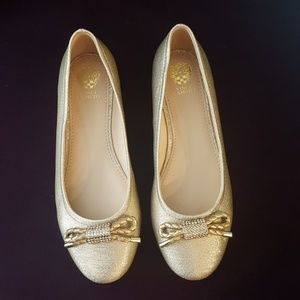 Vince camuto gold sparkly  flats